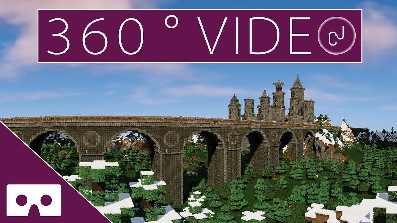 Cobblestone Castle Minecraft VR 360°