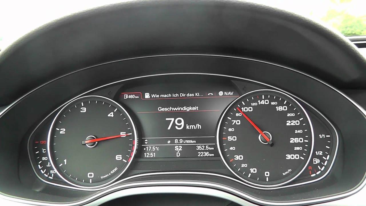 Audi A7 3.0 TDI quattro 313PS 313HP 0-100 km/h 0-60 mp/h Sound ...