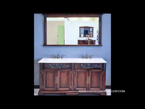 Antique Vanity Set - Double Sink - Helene