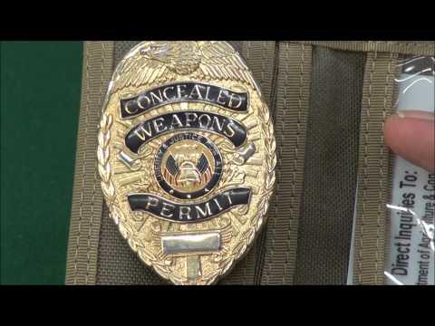 Concealed License Badge, Trash It ! WeaponsEducation