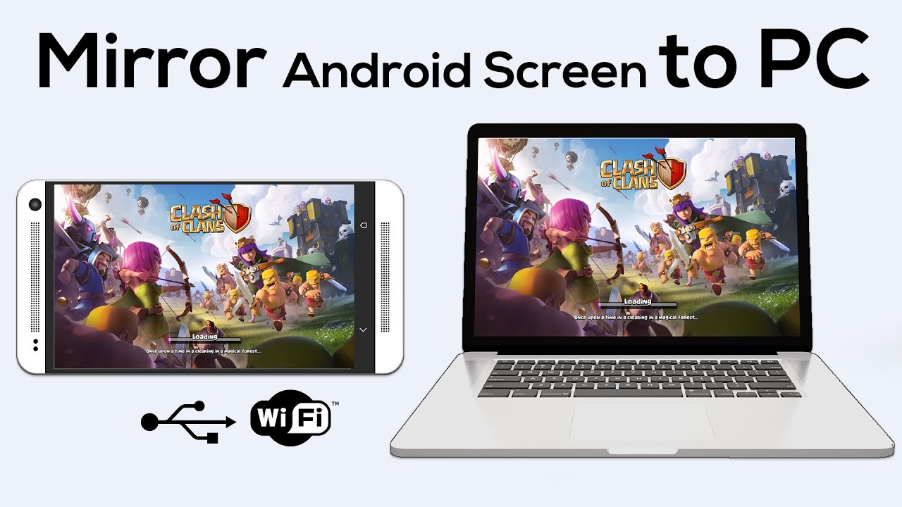 how to mirror your android screen to pc no root wifi