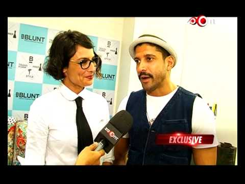 Farhan akhtar adhuna akhtar chat on their salon launch for Adhuna akhtar salon