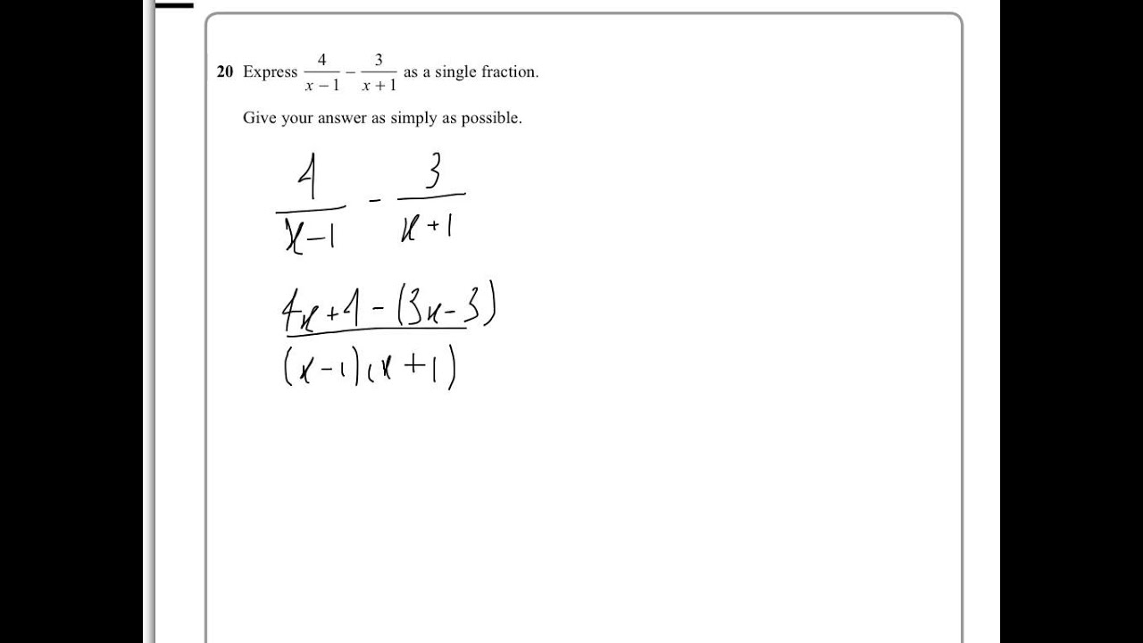 Edexcel iGCSE Mathematics A 4MA0/4HR January 2014 Q20