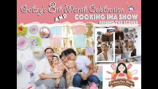 Gabzy's  8th Month Celebration and Cooking Ina Show Behind the Scenes