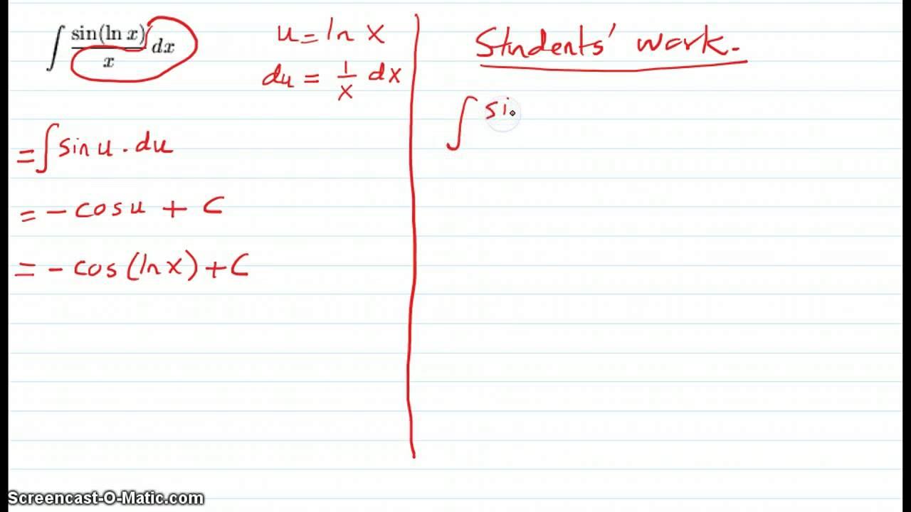 Quiz 1 - int sin(ln x) dx - YouTube