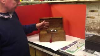 Antique Burr Walnut Tea Caddy
