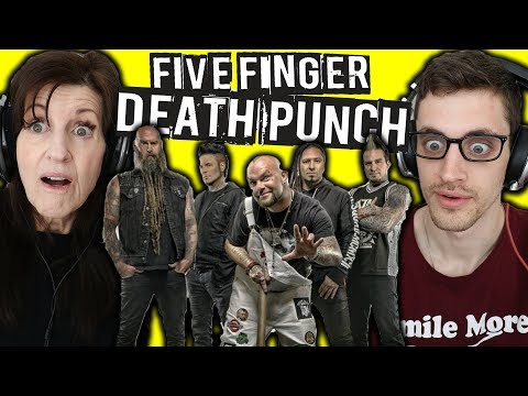 Mom REACTS to METAL | FIVE FINGER DEATH PUNCH: Wash It All Away