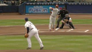 2008 NLDS Gm4: Rollins blasts a leadoff home run