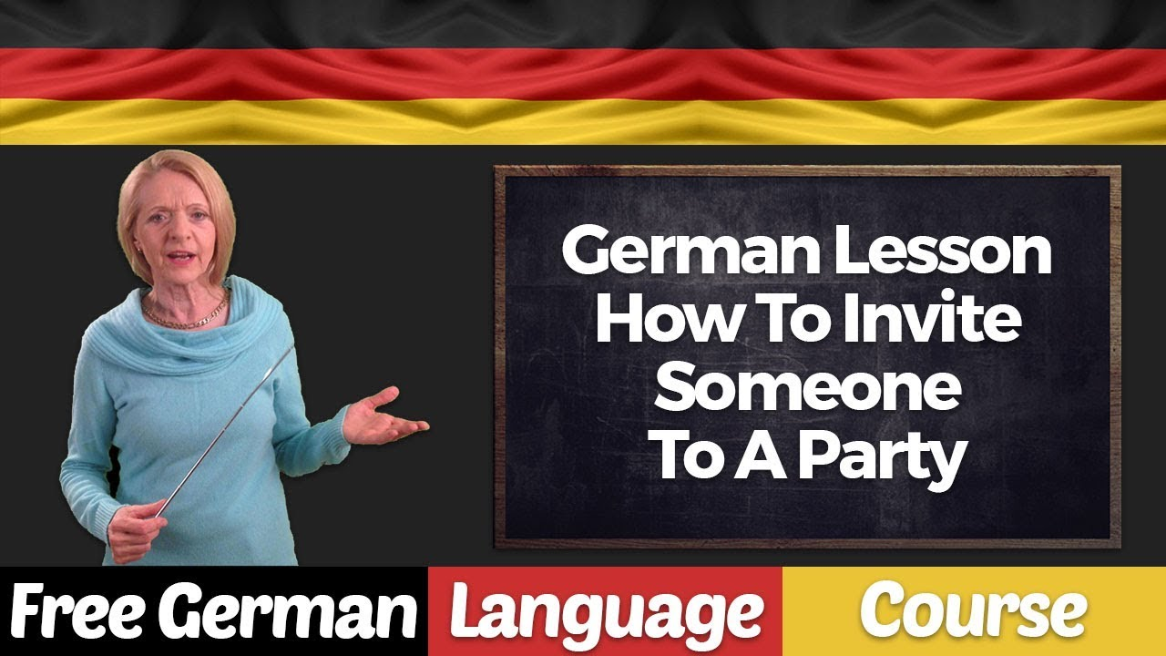 german lesson how to invite someone