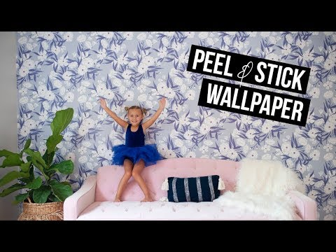 DIY ROOM MAKEOVER | HOW TO USE PEEL & STICK WALLPAPER | WALLS NEED LOVE