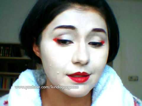 Geisha (Maiko) Inspired Makeup Tutorial for Halloween