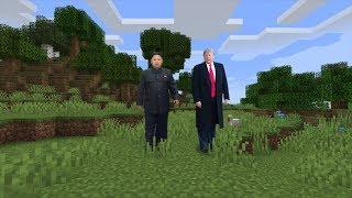 donald trump and kim jong un play minecraft