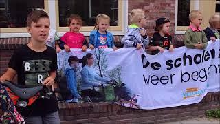 De scholen zijn weer begonnen in Noordwijkerhout  Fietsbel-actie Prinsenhof school.