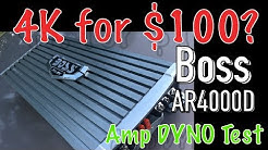 Who's the Boss? AR4000D 4k MAX Amp Dyno Test
