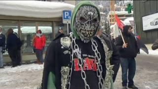 Occupy Protest während des World Economic Forums in Davos