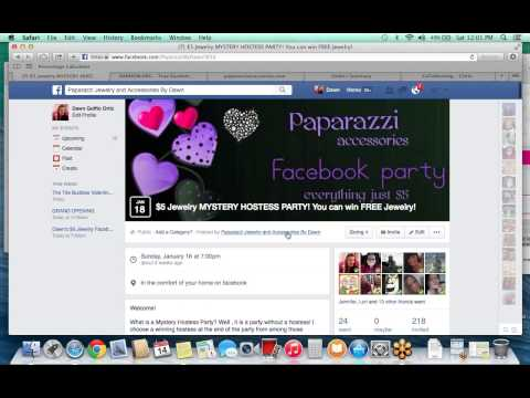 How to Run a Paparazzi Facebook Party Using Back Office Photos.