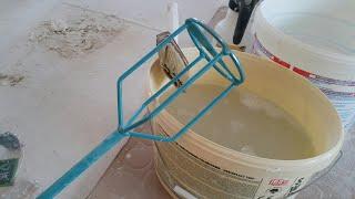 Mieszadło koszykowe Collomix  KR 120 HF. Przygotowanie gipsu szpachlowego