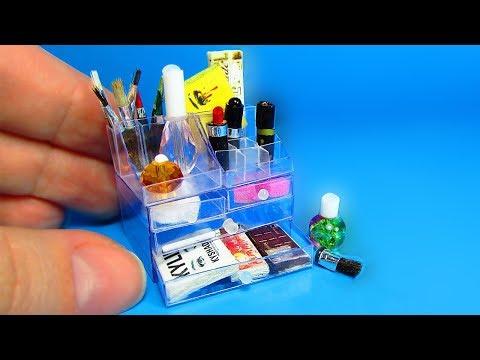 DIY Miniature Acrylic Makeup Cosmetic Organizer Case