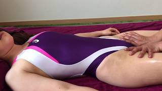 crotch  Massage with swimsuit [ASMR]