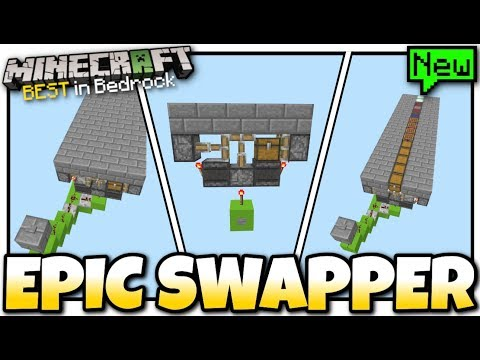 Minecraft - EPIC BLOCK SWAPPER ( 1-wide / Tileable ) [ Tutorial ] MCPE / Bedrock / Xbox / Switch