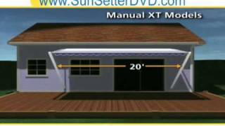 Maine Sun Setter Retractable Aluminum Home Deck Awnings