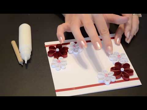 How to make a Greeting Quilling Card//DIY Paper Crafts for teenagers-Birthday Gift Card Ideas