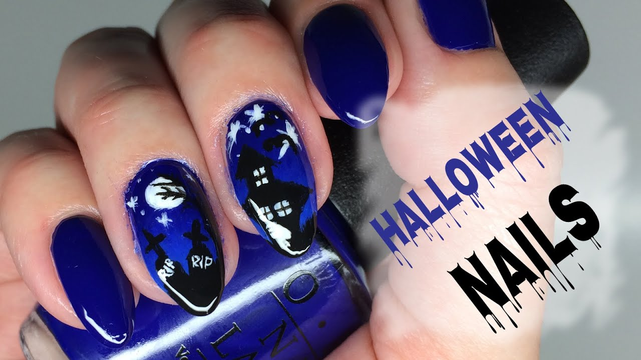 halloween nail art ombre nails