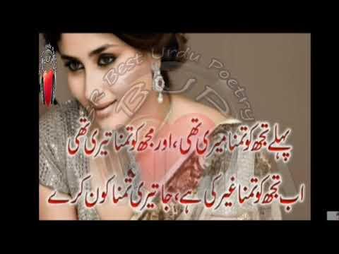 Two Line Latest Urdu Sad Poetry || 2 Line Heart Touching Urdu Poetry