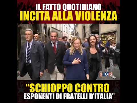 Il Fatto Quotidiano incita alla violenza: Schioppo contro esponenti Fratelli d'Italia