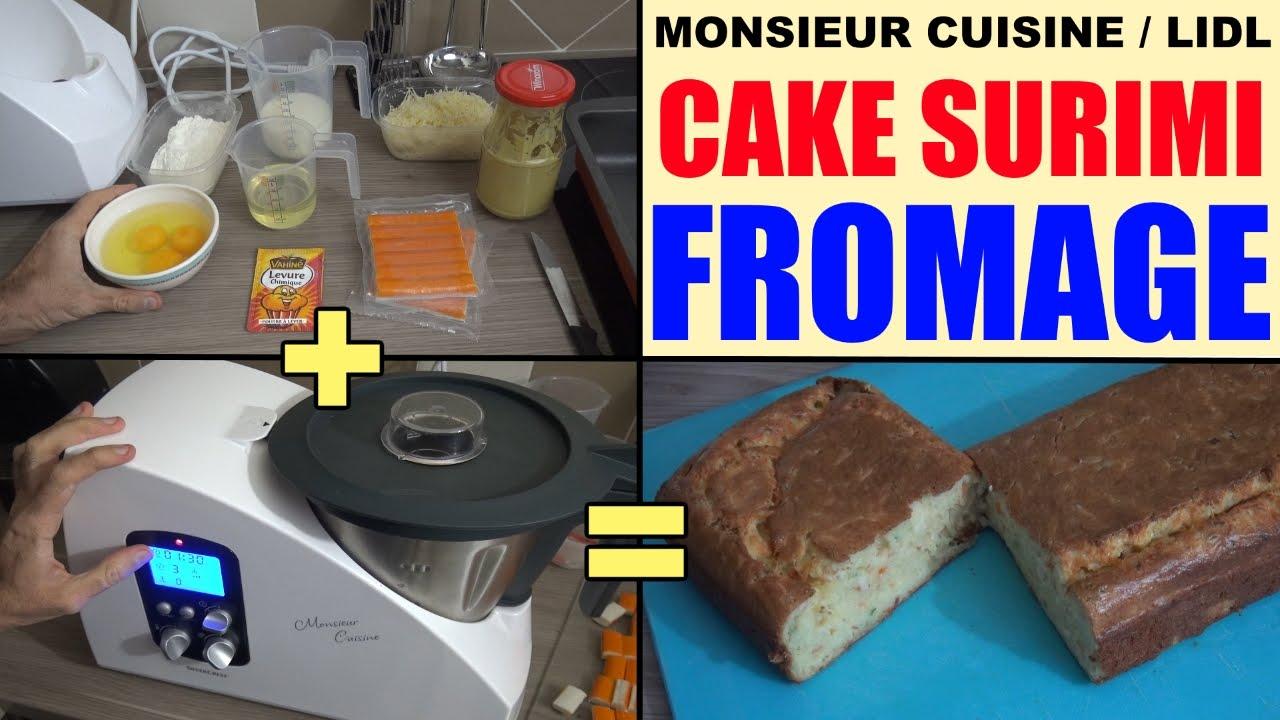 cake surimi fromage avec monsieur cuisine silvercrest lidl recette