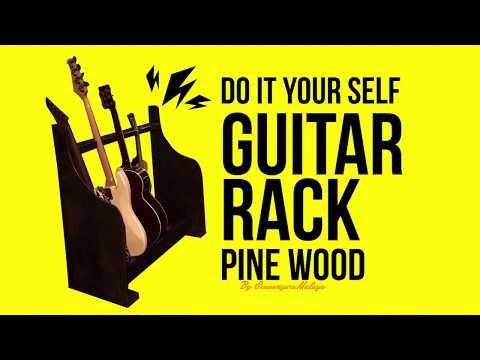 Scavengers Malaya : Diy Wood Rack Guitar(Pine Wood )
