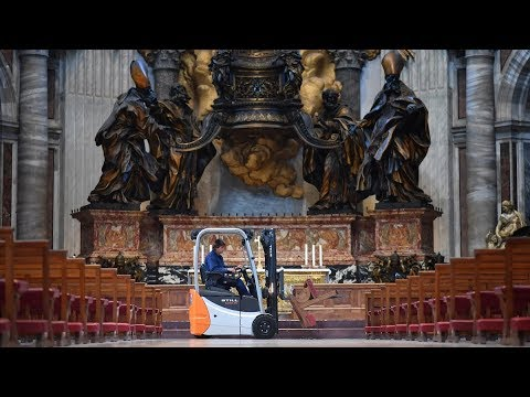 STILL in the Vatican: a forklift truck in St Peter's Basilica