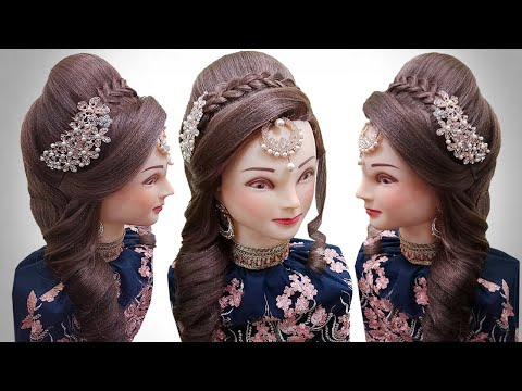 bridal-hairstyle-for-long-hair- -curly-hair-style-girl-for-wedding-hairdos- -kashees-hair-style
