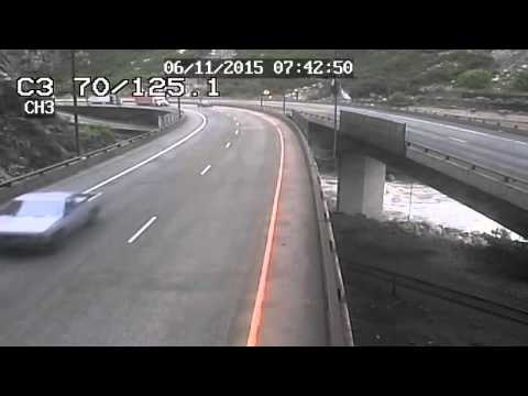 I-70 Rockfall in Glenwood Canyon June 11, 2015