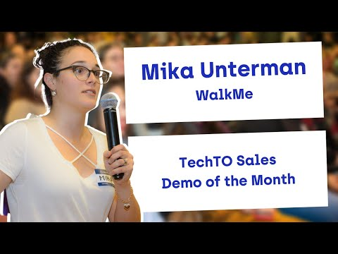 Demo of the Month: Mika Unterman of WalkMe