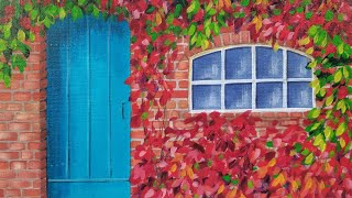 Autumn Door Acrylic Painting LIVE Tutorial