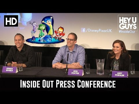 Inside Out Press Conference - Amy Poehler, Pete Docter & Jonas Rivera