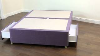 Amber Divan Base - Platform Top 2 Drawer - Sumatra Lilac