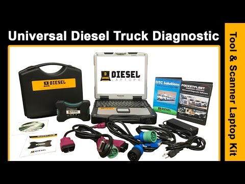 Universal Diesel Truck Diagnostic Tool & Scanner Laptop Kit Product Overview