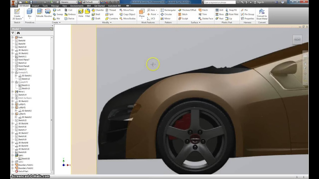 Autodesk Inventor Basic Car modeling Part 5 - YouTube