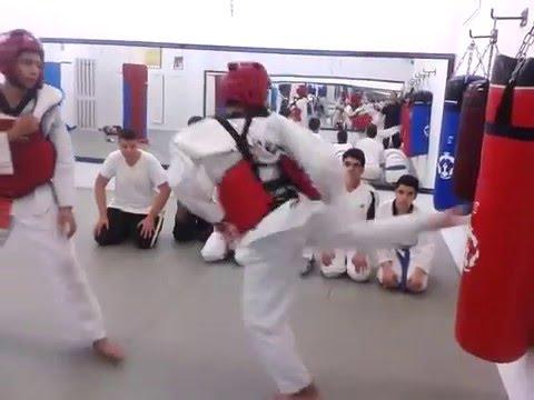 Training Hard  with Punching Bag
