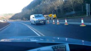 A390 road works