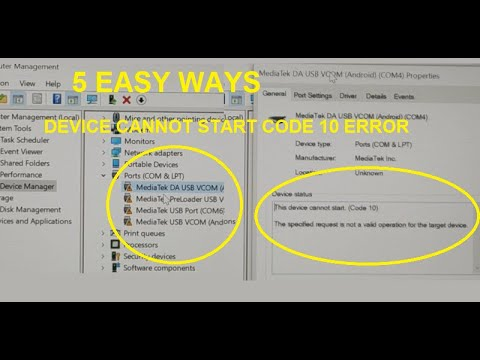 This Device Cannot Start (code 10) Error All Devices [Fixed 2020 New] 5 EASY WAYS