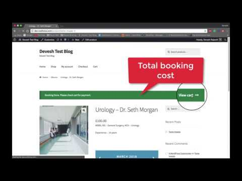 WooCommerce Bookings And Appointments Plugin Features - Free Version