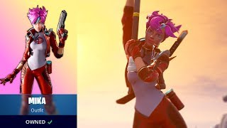 MIKA FORTNITE SKIN GAMEPLAY (LONG GAMEPLAY POUR MIEUX VOIR LA PEAU)