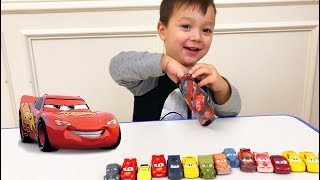 Father & Son toy unboxing Joey opens Cars 3 blind bags