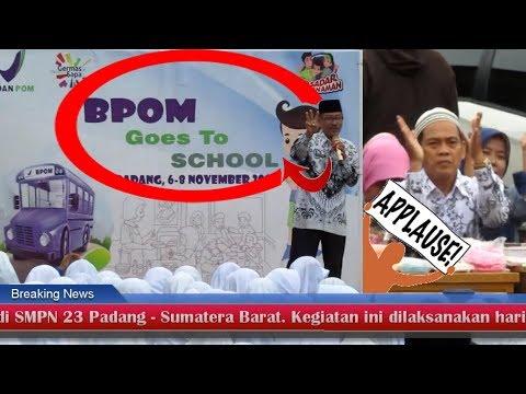 Sambutan Hangat Kepala SMPN 23 Padang Atas Kunjungan BPOM Goes To School