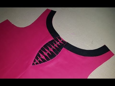 Latest Front Boat Neck Designs Cutting and Stitching - YouTube
