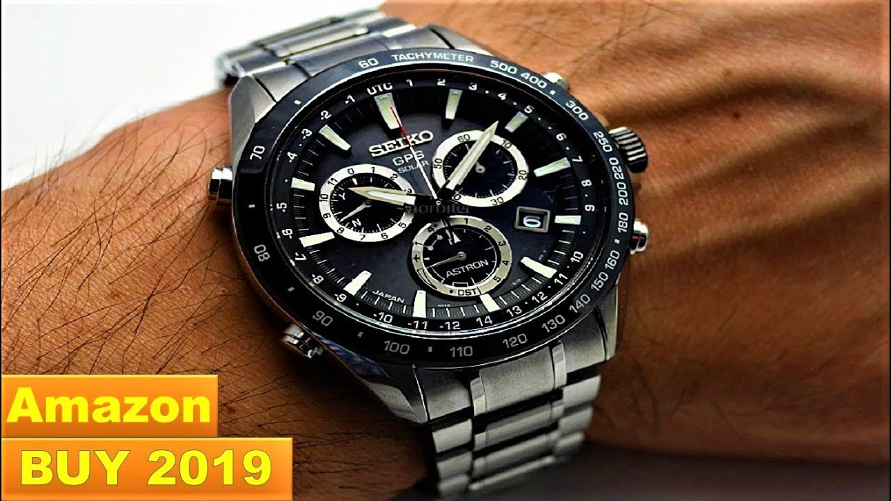 aafc21e5a9cc9 Top 5 Best Seiko Astron GPS Solar Watches For Men Buy Now Amazon 2019