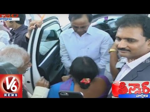 Woman Sings Song At CM KCR Convey | New Delhi | Teenmaar News